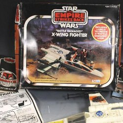 Picture Of Amazing Star Wars toys in mint condition are auctioned